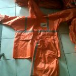 konveksi jas hujan bandung di orderan dari PT Kereta Api Indonesia