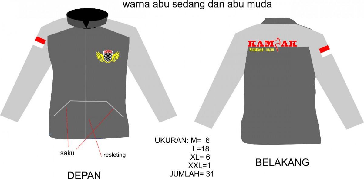 Contoh desain dari Customer konveksi jaket murah bandung