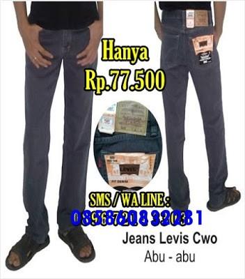 Konveksi Grosir Celana Jeans Levi's Pria Murah Abu
