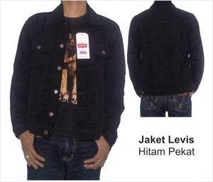 Konveksi jaket jeans levis warna hitam
